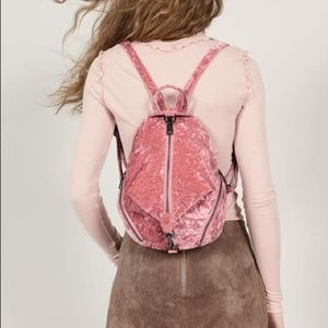 Rebecca Minkoff Velvet Medium Julian Backpack Pink